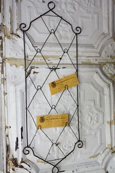 Vintage Wire Photo Holder - Wall Sculptures - Wall Decor - Home Decor | HomeDecorators.com