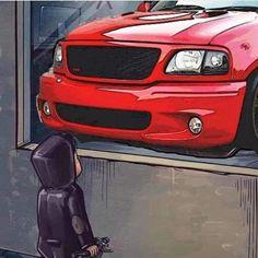 Ford Lighting, Svt Lightning, Ford Svt, Dropped Trucks, Ford F Series, Ford Trucks, Pencil Art, Dream Cars, Nissan