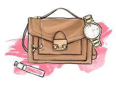Illustrated Gift Guide Valentines For Her Sketchbook Closet Bag Illustration Fashion Sketches