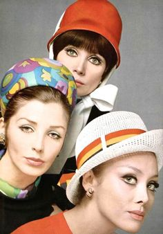 Vintage hats Jeanne Lanvin, Jean Patou, Rose Valois, photo Guégan, L'Officiel April 1967 | Magdorable!
