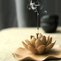 oh incense holder was also a thing i wanted to make Winter Lotus : Ceramic Decoration ~ Incense Burner ~ Incense sticks or cones ~ forever flower Ceramic Decor, Ceramic Clay, Ceramic Pottery, Diy Clay, Clay Crafts, Diy And Crafts, Forever Flowers, Incense Sticks, Incense Burner