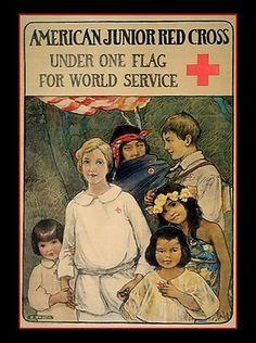 Cross Pictures, Vintage Pictures, Vintage Posters, Vintage Art, American Juniors, International Red Cross, Illustrations Posters, Vintage Illustrations, Art Nouveau Poster