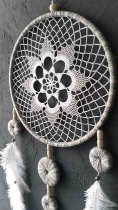 Gray White Beige Blue Dream Catcher Crochet by DreamcatchersUA crafts by month Gray White Beige Blue Dream Catcher Crochet Doily Dreamcatcher large dreamcatcher boho dreamcatchers wedding decor wall hanging wall decor Grand Dream Catcher, Blue Dream Catcher, Large Dream Catcher, Doily Dream Catchers, Dream Catcher Craft, Dreamcatcher Crochet, Boho Dekor, Doily Patterns, White Beige