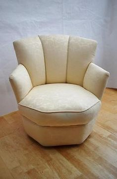 Art deco antique #cocktail #chair upholstered in cream #heavy cotton damask,  View more on the LINK: http://www.zeppy.io/product/gb/2/222344019357/