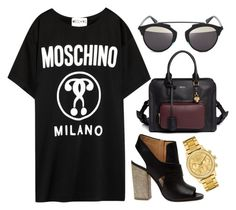 """""""NO!"""" by shanelala ❤ liked on Polyvore featuring Moschino, Maison Margiela, Alexander McQueen, D-ID and Lacoste"""