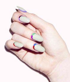 Colorblock-inspired #nailart