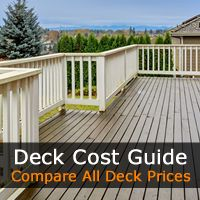 Deck Cost Guide, we compare all deck materials, deck brands including decking types. We break down the individual deck costs and prices for your deck installation.