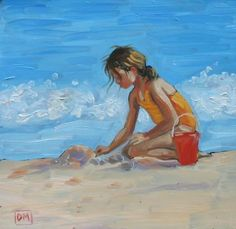 Beach Art -- Debbie Miller  Reminds me so much of Laura when she was around 8 years old.