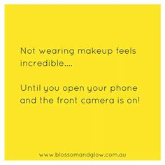 No make up is the best...