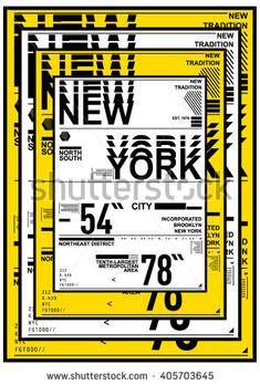 NYC / NEW YORK DISTRICT / Stock Vector Illustration: T-Shirt Design / Print Design - Shutterstock Premier