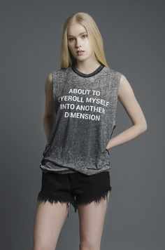 Eyeroll Burnout Muscle Tee