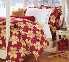Paperwhites Cotton Percale Bedding  from Cuddledown on Catalog Spree, my personal digital mall.