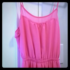 Pink Maxi Dress Beautiful pink color, worn once. Has liner, ties in the back. Dresses Maxi