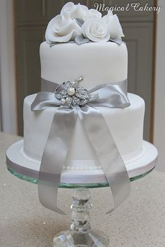 Silver Wedding Anniversary Cakes | Silver wedding anniversary cake | Flickr - Photo Sharing!