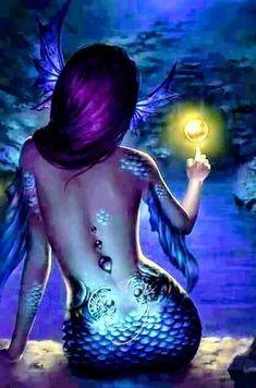 fantasy Art Now Mermaid Artwork, Mermaid Drawings, Mermaid Tattoos, Mermaid Paintings, Fantasy Mermaids, Unicorns And Mermaids, Mermaids And Mermen, Fantasy Creatures, Mythical Creatures
