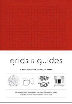 Our bestseller is now available in red! Grids & Guides promises another 144 pages of varied and unusual graph paper (including some new grid designs), interspersed with more engaging charts and infographics—from knot tying to logic expressions—for right- and left-brainers alike. If your designs, notes, or other visual thinking need a splash of color, this is the answer. Encased in the same sturdy, cloth-wrapped cover, this time in a bright new shade.