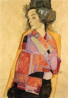 The Daydreamer (Gerti Schiele)    by Egon Schiele