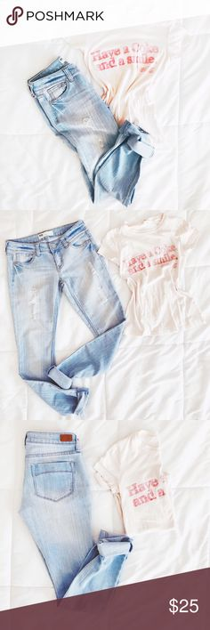 """Tilly's Distressed Jeans Brand: RSQ Jeans """"IBIZA SKINNY"""" from Tilly's! Size 5. These jeans fit amazing! And are so soft! Love the Distressed look!😻 and color! 31' L inseam, 40' L, hips 17'wide. Offers welcome ❤️ no trades thank you Tilly's Jeans Skinny"""