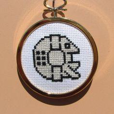 Handmade Star Wars Millennium Falcon Cross Stitch Wall Art by RikkasCreations on…