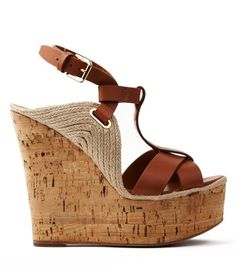 "Ralph Lauren Collection Fimesa Leather Cork Wedge Sandals - A ""perfect"" summer shoe."