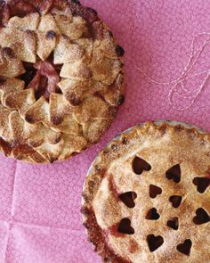 Pear-Raspberry Heart Pie