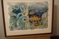$50 2018 David McCall Johnston w/ COA | #1936655870 Leagues Under The Sea, Vintage Art Prints, David, Frame, Painting, Decor, Dekoration, Decoration, Frames