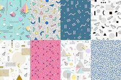 Geometric pattern memphis style by Fay_Francevna on @creativemarket