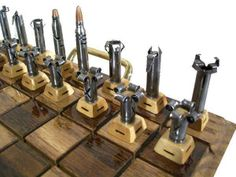 Firearm Cartridge Chess Set.