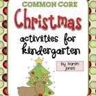 Huge Christmas activity pack w/Kindergarten ELA & Math CCSS!  Sight word books, centers, Gingerbread activities, & more! $