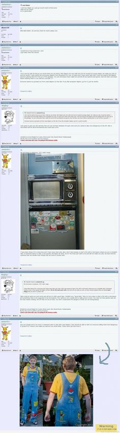 Get a laugh: Microwaving used diapers