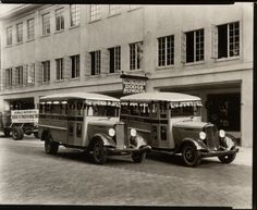 School buses from the 1930s.  (Orange County Regional History Center)