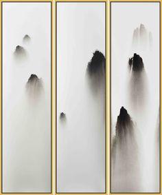 由光影概念發展出來的類山水,山水,也是介質作用下的層次美。