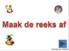 Digibordles: Maak de reeks af  http://leermiddel.digischool.nl/po/leermiddel/33de1e307d67875d8f727af619c6cd00