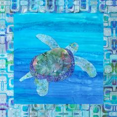Your place to buy and sell all things handmade Tropical Quilts, Hawaiian Quilts, Batik Quilts, Panel Quilts, Sea Turtle Quilts, Wildlife Quilts, Fiber Art Quilts, Turtle Swimming, Easy Quilt Patterns