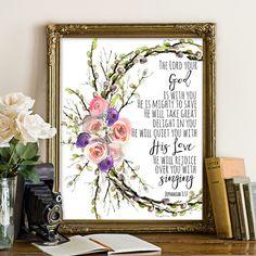 Zephaniah 3:17 Bible printables bible printable by SoulPrintables