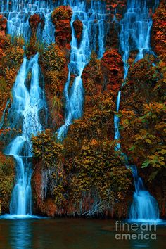 Autumn waterfall, Crimea, Ukraine