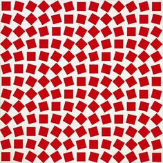 Squares in a slope field? Op Art, Textures Patterns, Print Patterns, Arte Linear, Red And White Quilts, Kinetic Art, Concrete Art, Icon Design, Geometric Art
