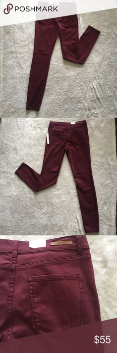 Caslon Colored (Red Cordovan) Stretch Skinny Jeans Caslon Red Cordovan Jeans! Great for a night out with the girls or a fun date! Wear to a family picnic or a day at the park! Caslon Jeans Skinny