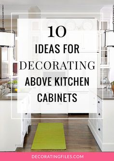 Decorating above the kitchen cabinets w antiques What to do with space above cabinets