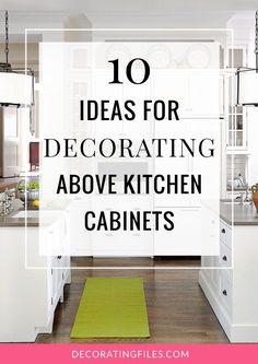 Above cabinet decor   Kitchen decorations   Pinterest   Jars, Glass vase  and Glasses