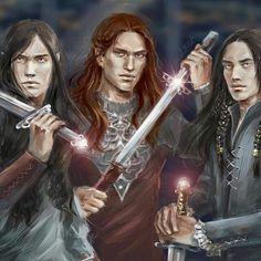 Maglor, Maedhros y Fingon by elfinfen