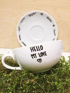 Filiżanka+Hello+My+Love+w+Only+inherently+na+DaWanda.com