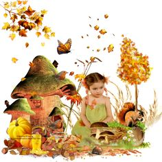 Super Tag d'automne 6 Photoshop, Creations, Images, Painting, Art, Animation, How To Paint, Fall Season, Art Background