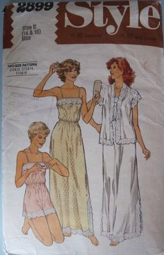 7d94ee0ad9 Negligee to sew vintage nightdress sewing pattern by PatternHut Lingerie  Patterns
