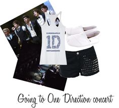 """""""Going to one direction concert"""" by one-direction-outfit ❤ liked on Polyvore"""