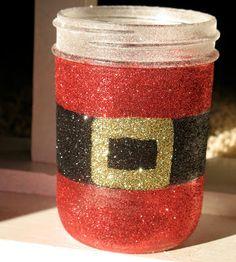 Glittery Santa's Belly Jar (How cute is that!)