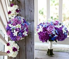 love the colors and the white flowers with only a touch of color for bridesmaids