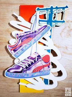 1bf5b49cc447 Sneaker art 3d wood sculpture wallart painting puma x sophia webster  Sneaker Art