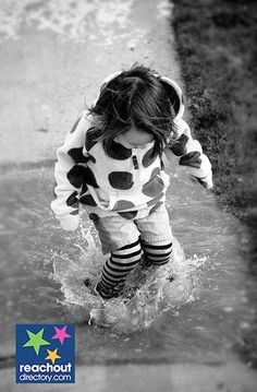 When life gives you rainy days, play in the puddles & find joy in everything ☔️ #dream #bejoyful #reachout ReachOut