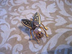 Vintage FLY Bee Insect Pin or Brooch by charmingellie on Etsy, $15.00